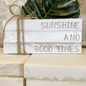 """Hand Stamped Books- """"Sunshine and Good Times"""""""